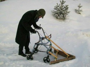 Senior's Snow shovel...